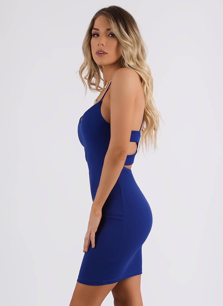 My Two X's Strappy Cut-Out Dress ROYAL (You Saved $17)
