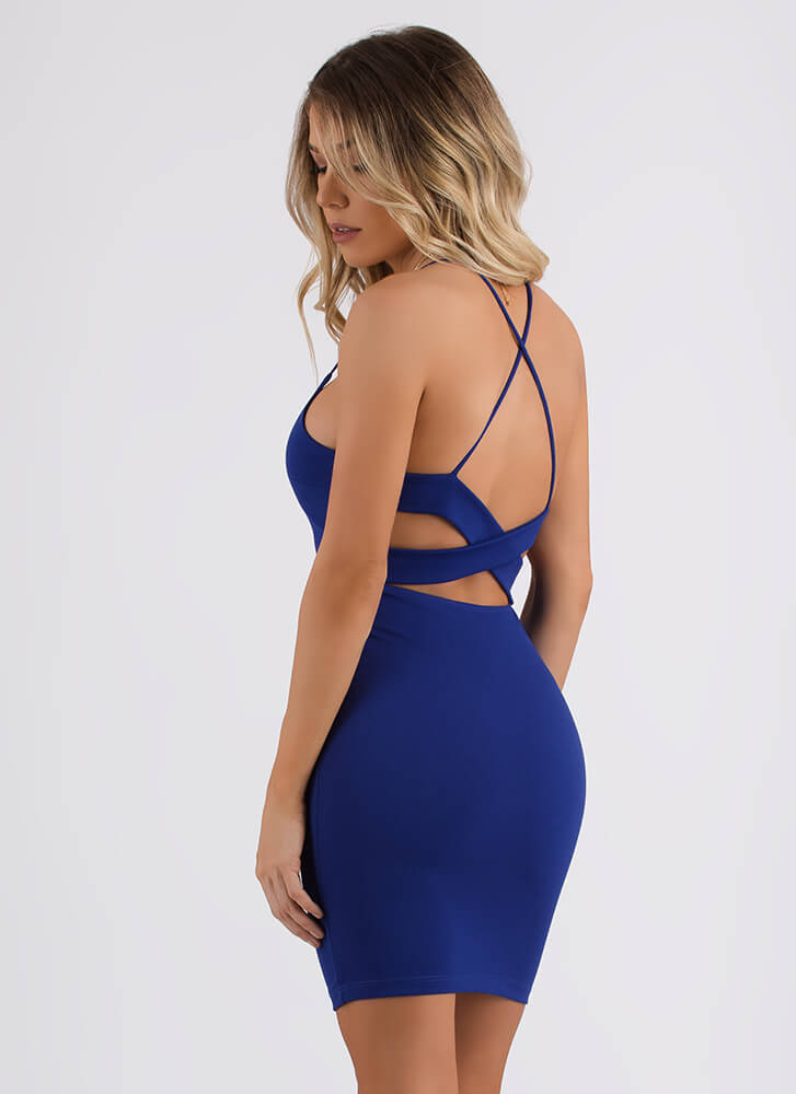 My Two X's Strappy Cut-Out Dress ROYAL