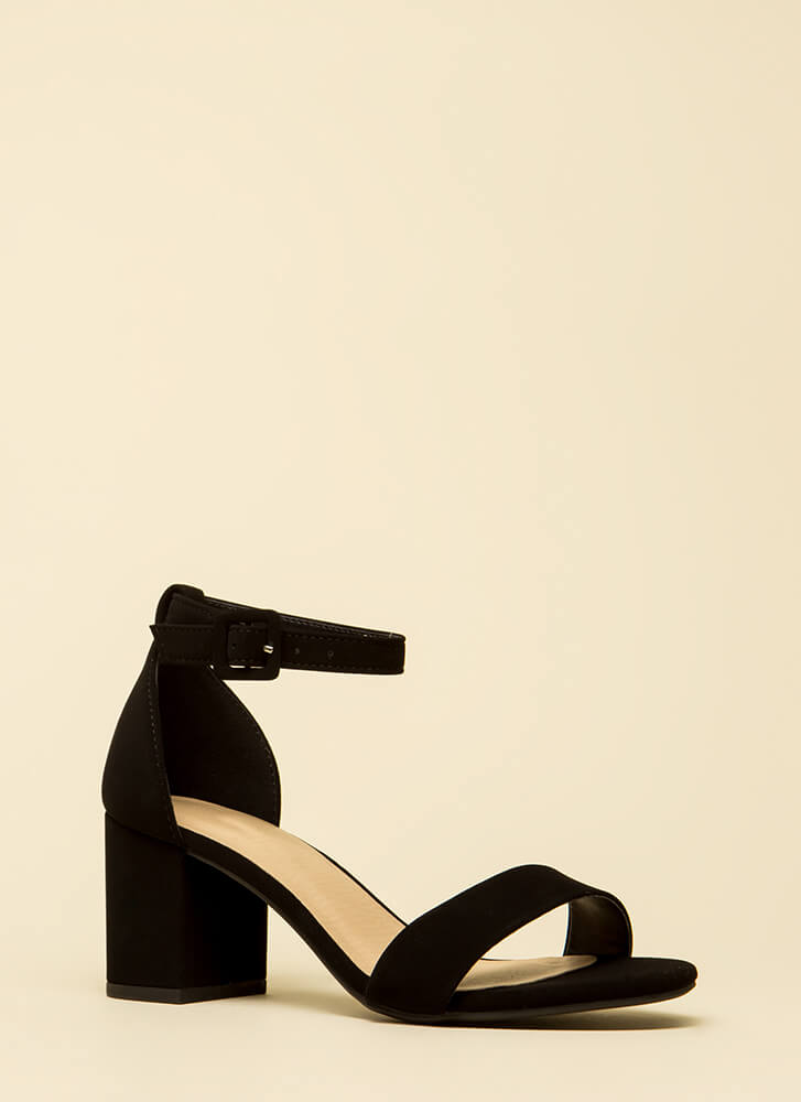 Cake Walk Chunky Ankle Strap Heels by Go Jane