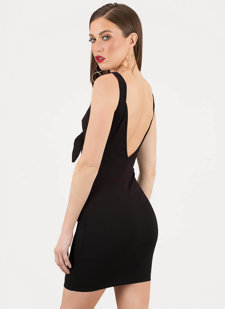Knot Always A Sweetheart Dress BLACK