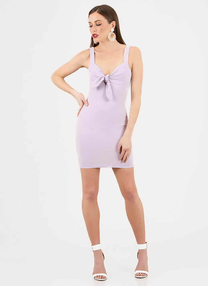 Knot Always A Sweetheart Dress LILAC