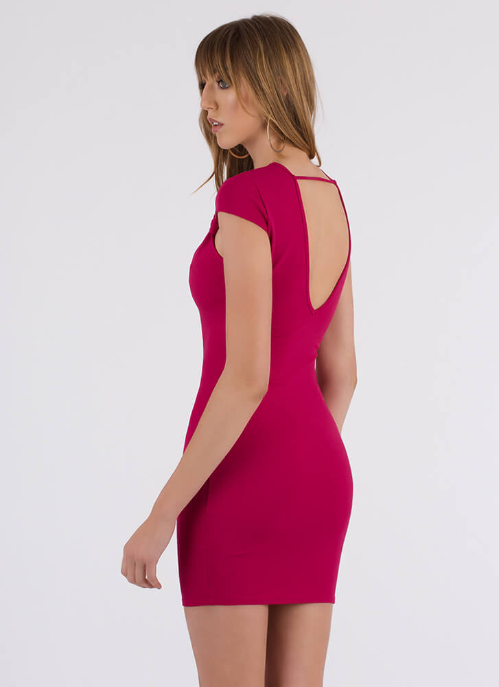 Love You Bunches Cinched Bow Dress FUCHSIA