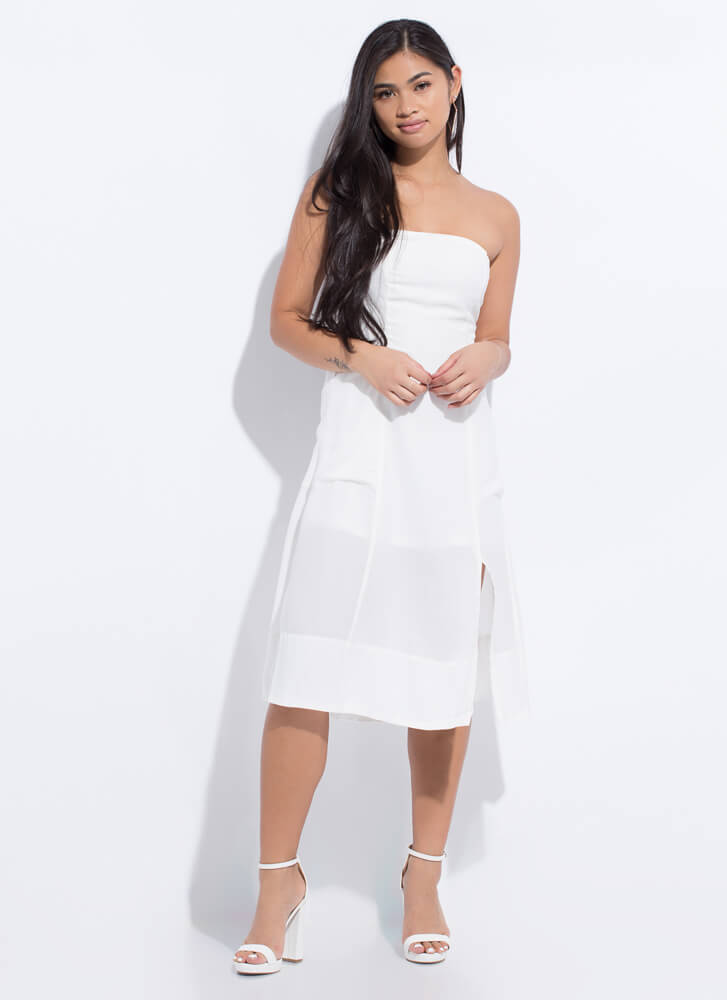 Easy Breezy Beauty Strapless Dress WHITE
