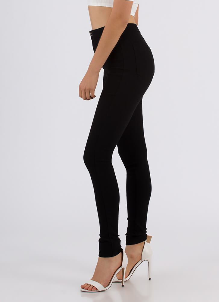 Perfect Finish High-Waisted Jeggings BLACK