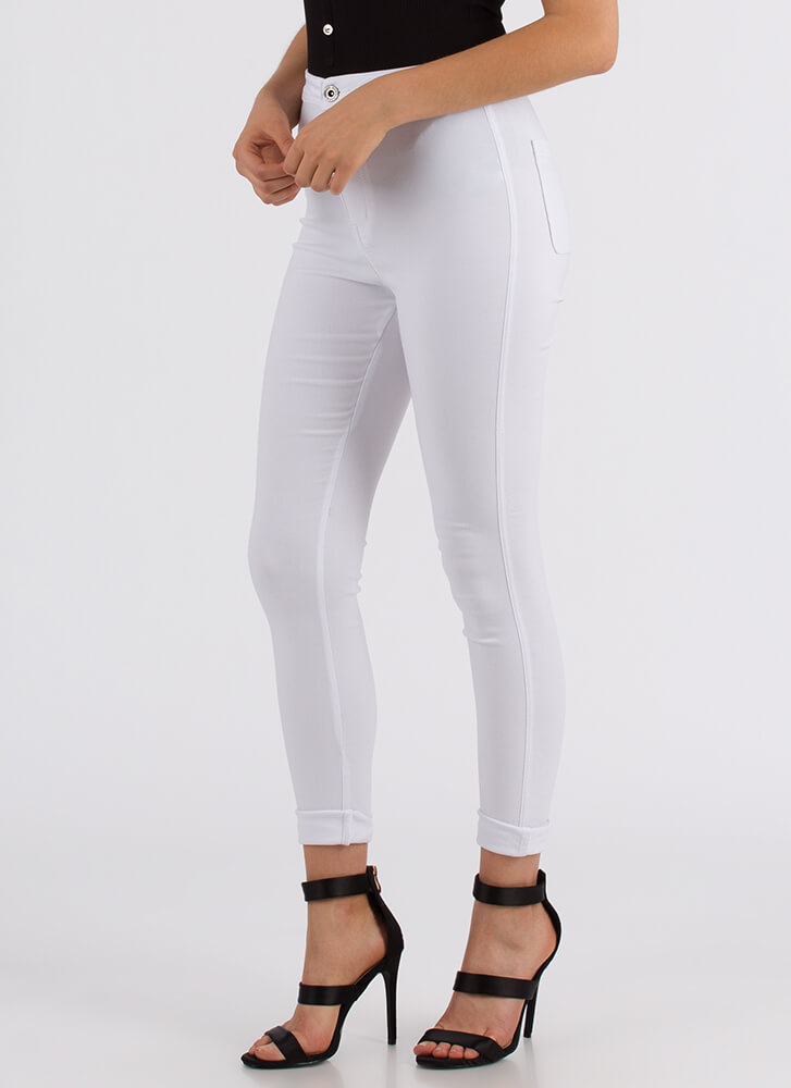 Perfect Finish High-Waisted Jeggings WHITE
