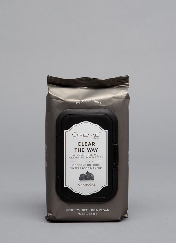 Clear The Way Makeup Removal Wipes CHARCOAL (Final Sale)