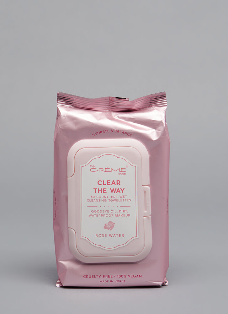 Clear The Way Makeup Removal Wipes ROSE (Final Sale)