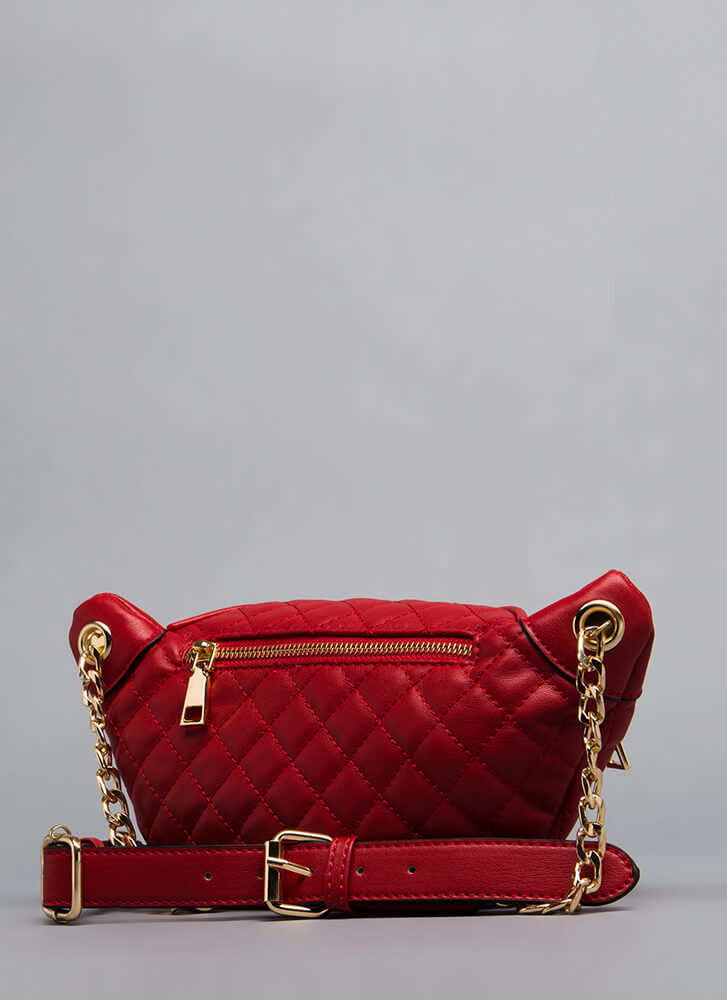 Total Makeover Quilted Fanny Pack RED (Final Sale)