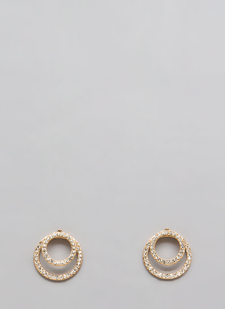 The Rings Jeweled Jacket Earrings GOLD
