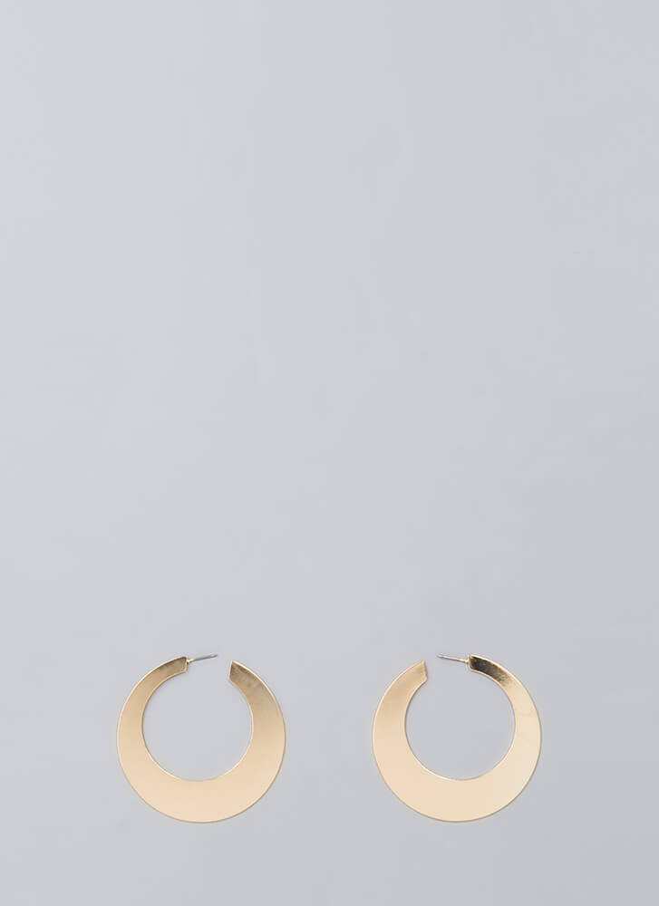 Flat Out Amazing Hoop Earrings GOLD