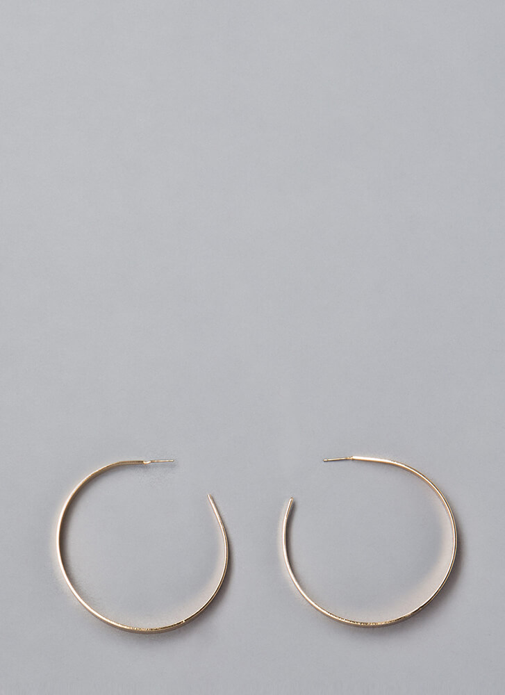 Essentially Yours Hoop Earrings GOLD