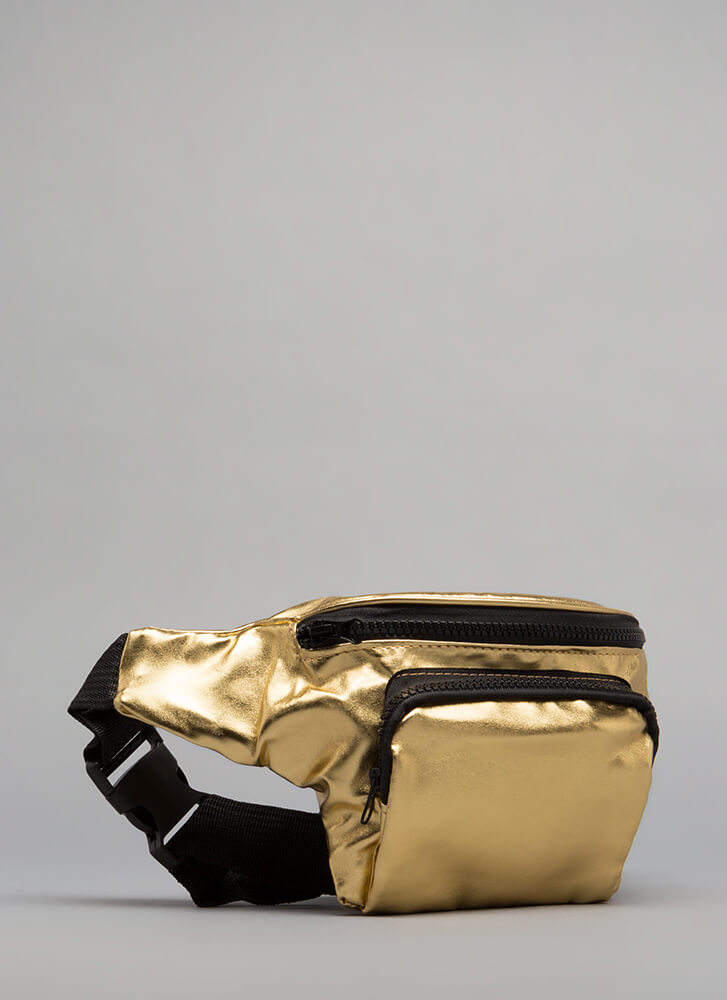 Must-Have Faux Leather Fanny Pack GOLD