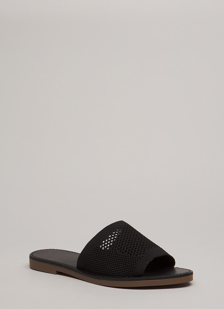 Our Greatest Knits Slide Sandals BLACK (You Saved $14)