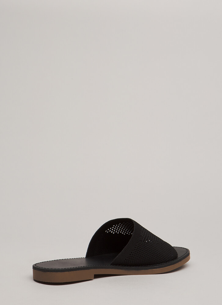 Our Greatest Knits Slide Sandals BLACK
