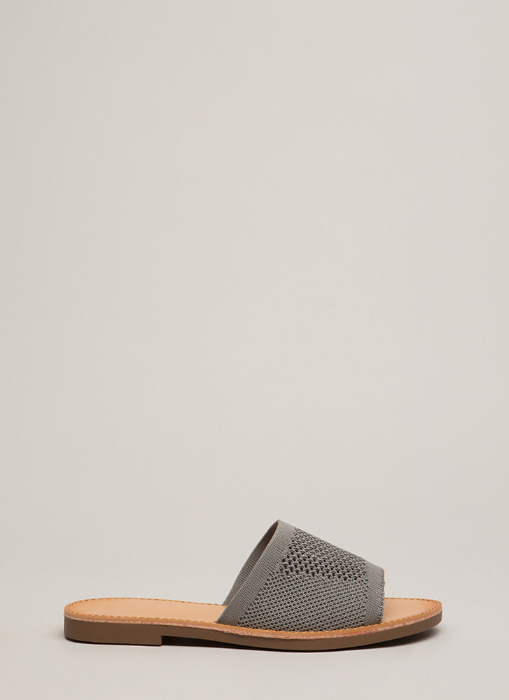 Our Greatest Knits Slide Sandals GREY