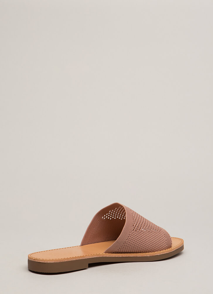 Our Greatest Knits Slide Sandals MAUVE