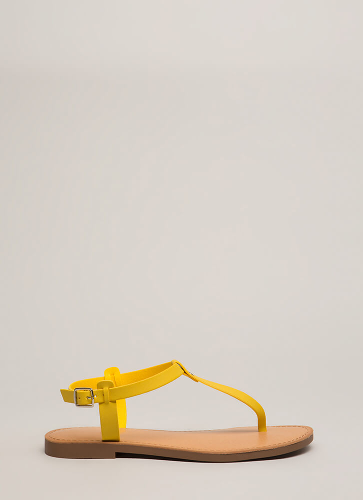 Stomping Ground T-Strap Sandals MUSTARD