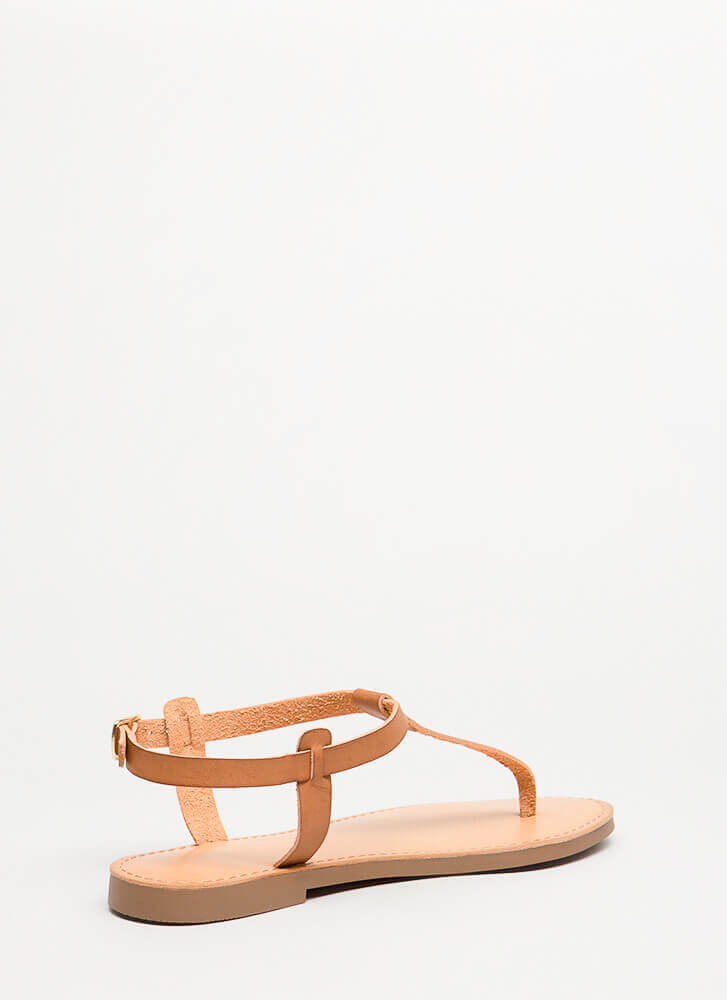 Stomping Ground T-Strap Sandals TAN