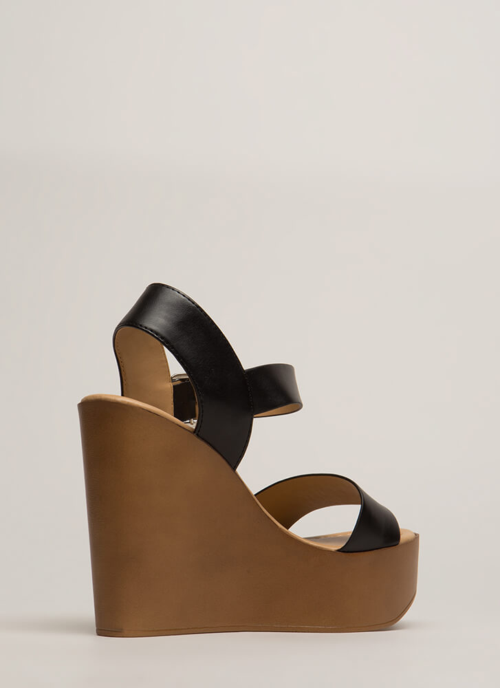 Friends In High Places Platform Wedges BLACK