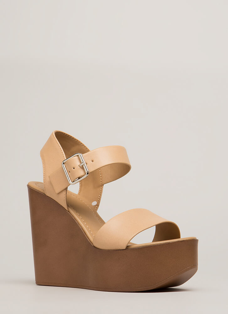 Friends In High Places Platform Wedges NATURAL