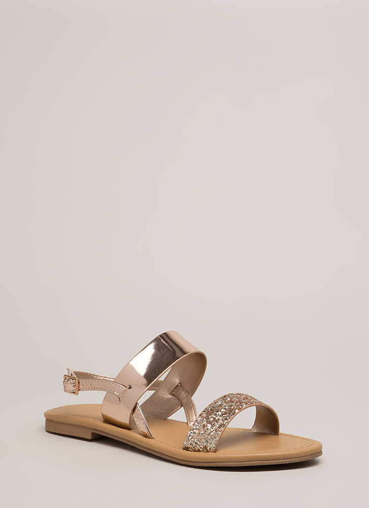 Twinkle Toes Glitter Strap Sandals PENNY