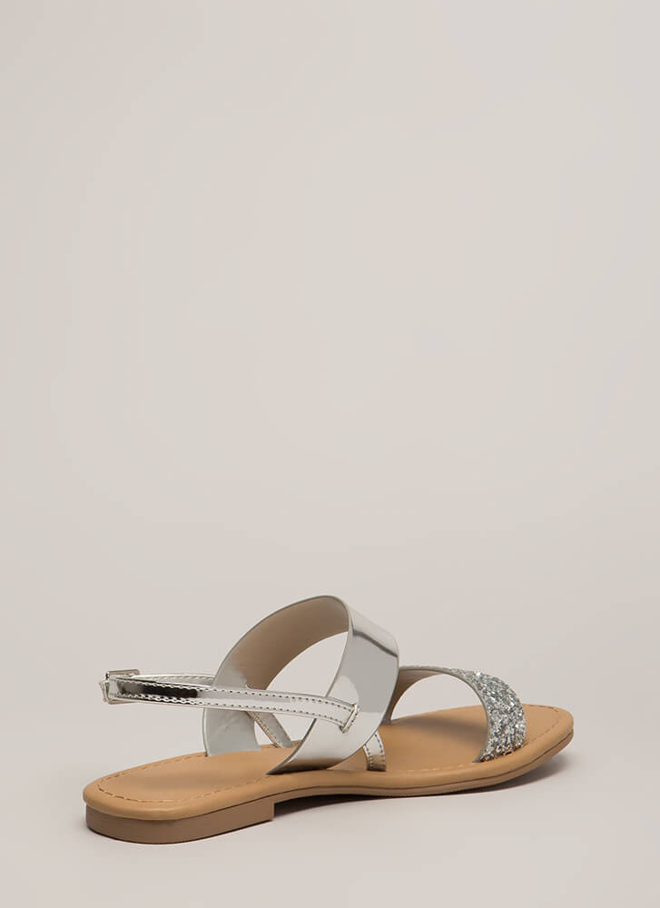 Twinkle Toes Glitter Strap Sandals