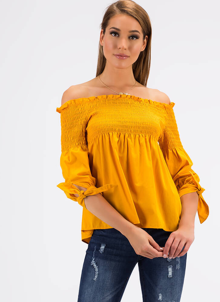 Play Flare Off-Shoulder Babydoll Top MANGO