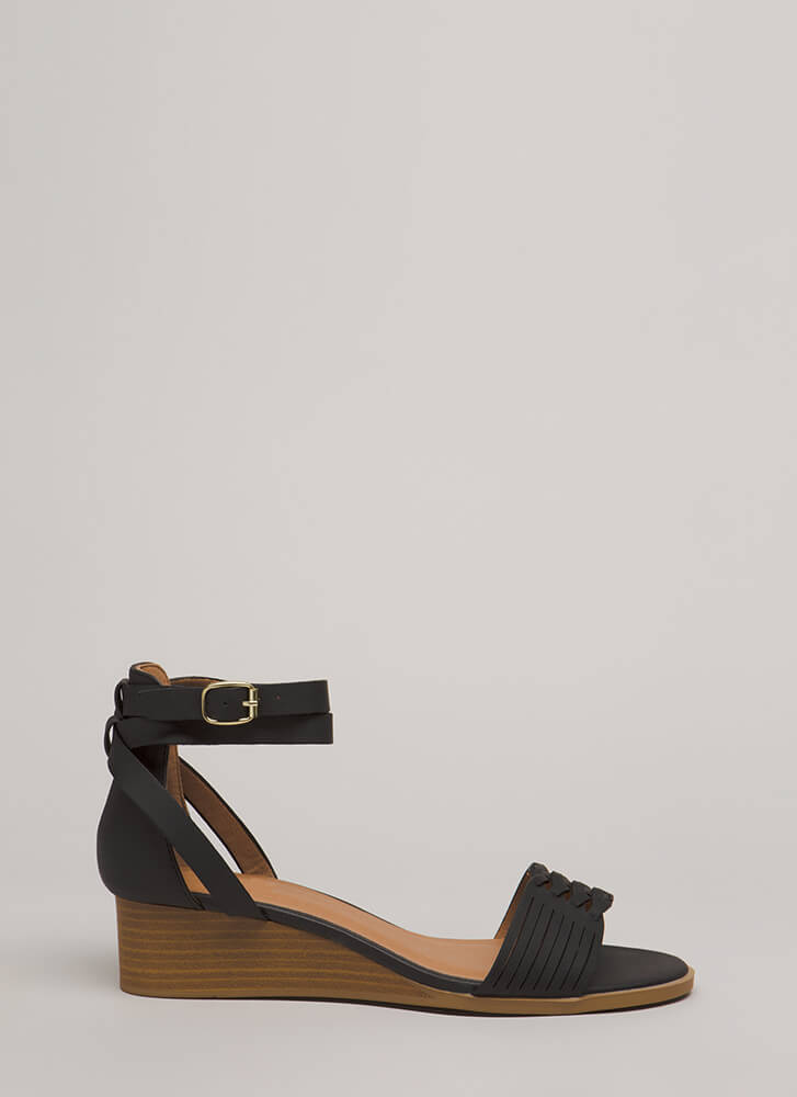 Elevated Style Strappy Wedge Sandals BLACK (You Saved $19)