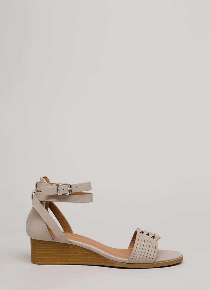 Elevated Style Strappy Wedge Sandals TAUPE (You Saved $19)