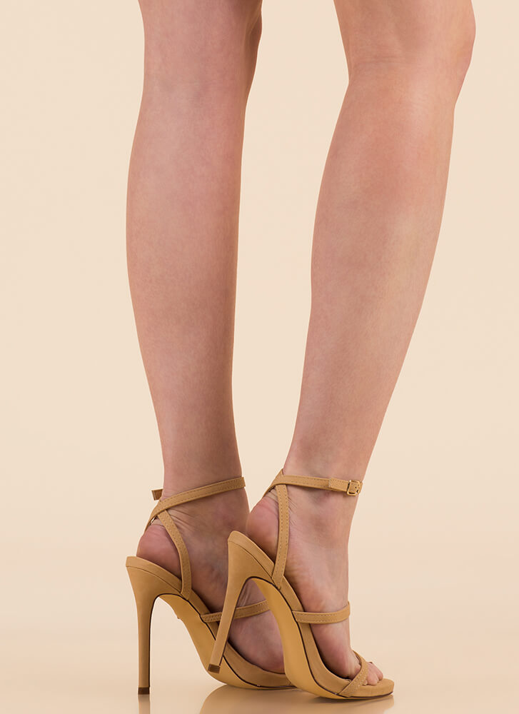 A Thing Of Beauty Strappy Heels NUDE