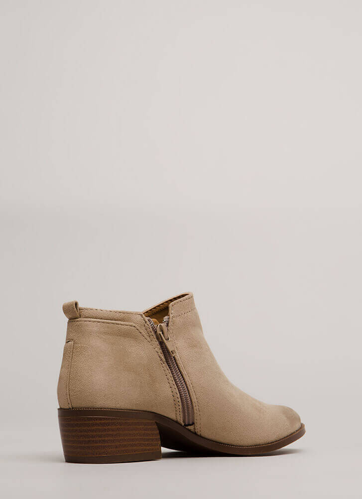 Top Notch Oil-Finish Faux Suede Booties LTTAUPE