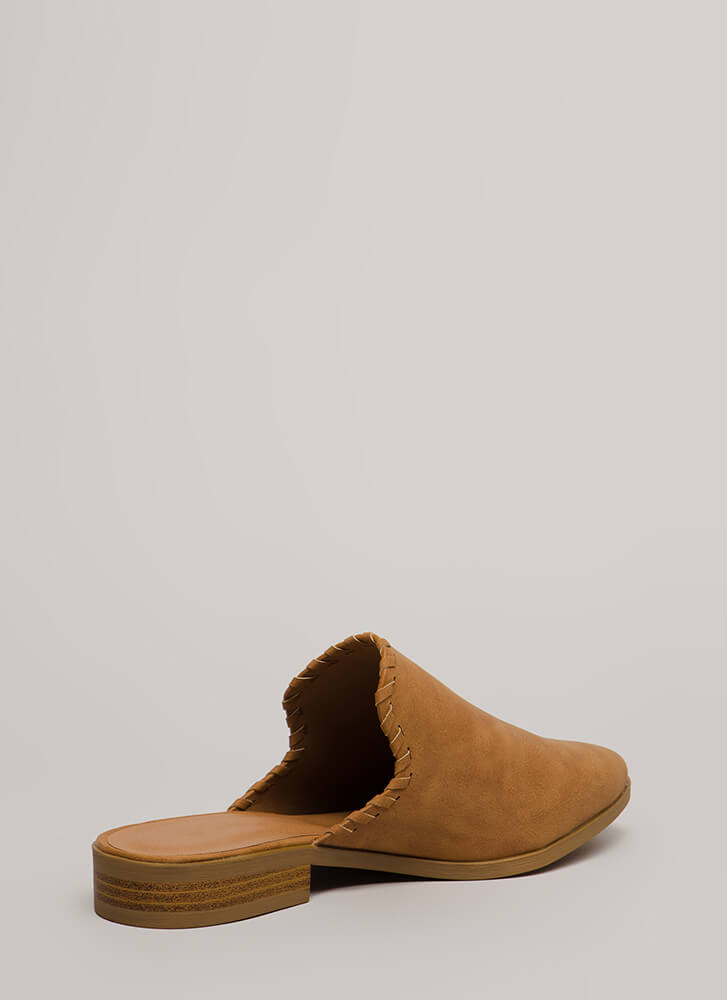 Moment's Notice Faux Leather Mule Flats CAMEL (You Saved $15)