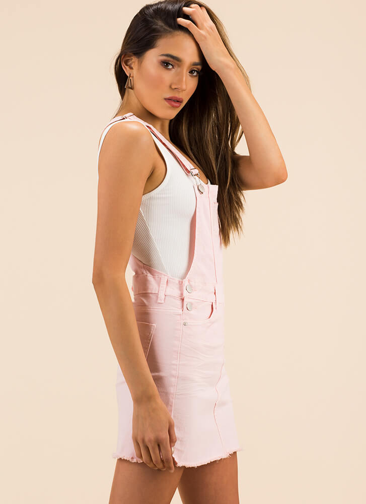 Cute And Casual Cut-Off Skirtalls PINK