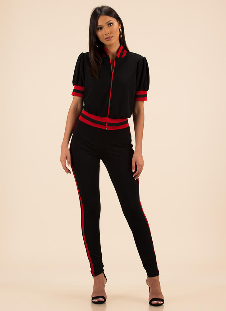 Perfect Track Record Top And Pant Set BLACK (Final Sale)