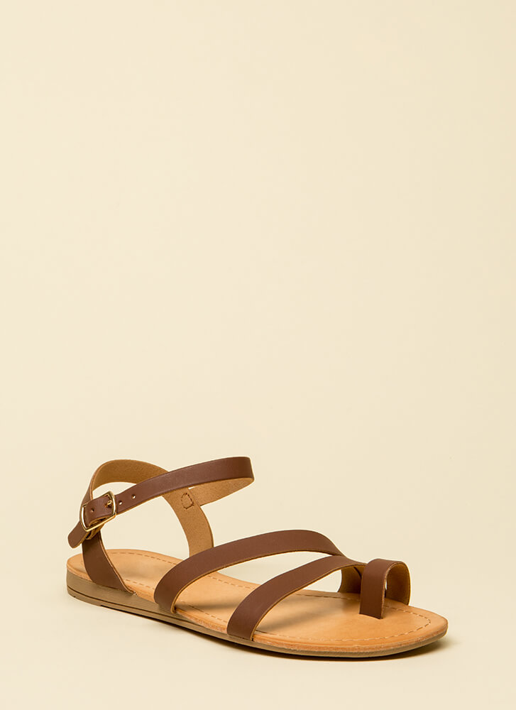 Strike A Strappy Medium Sandals BROWN (You Saved $12)