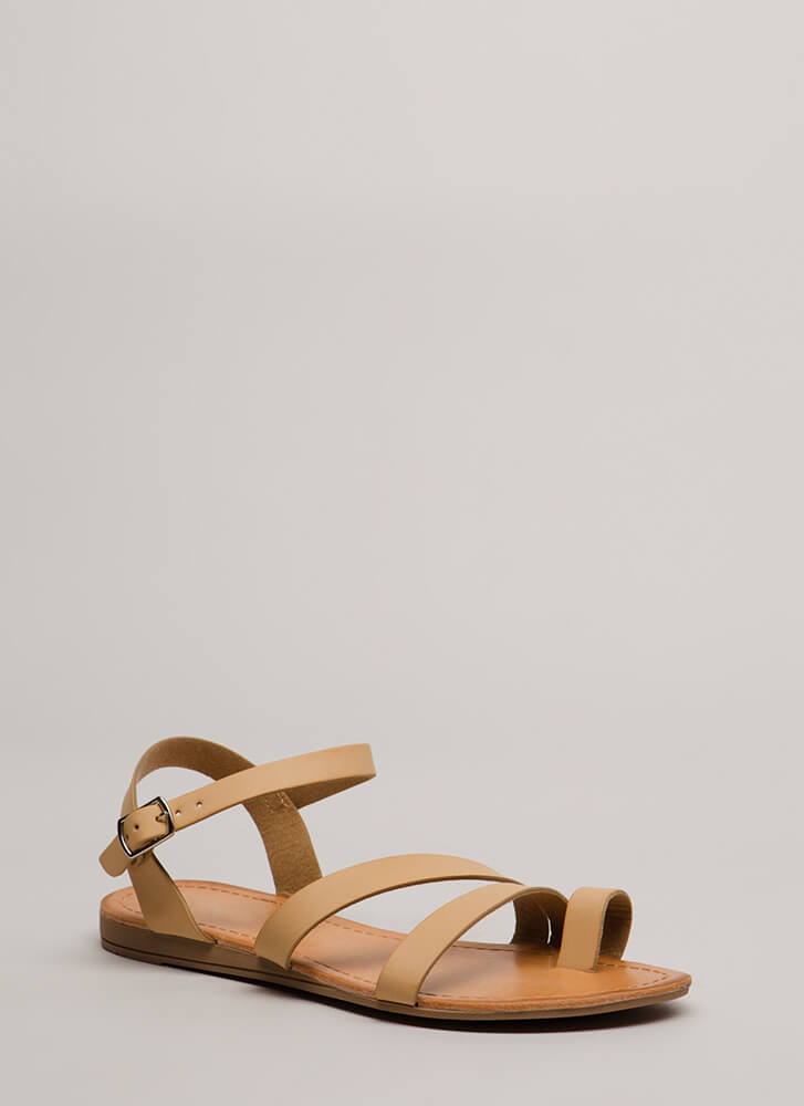 Strike A Strappy Medium Sandals NUDE (You Saved $12)