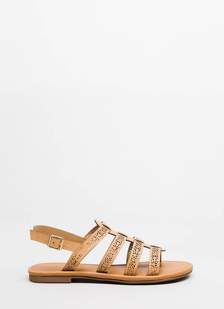 Chic Stroll Strappy Perforated Sandals LTTAN