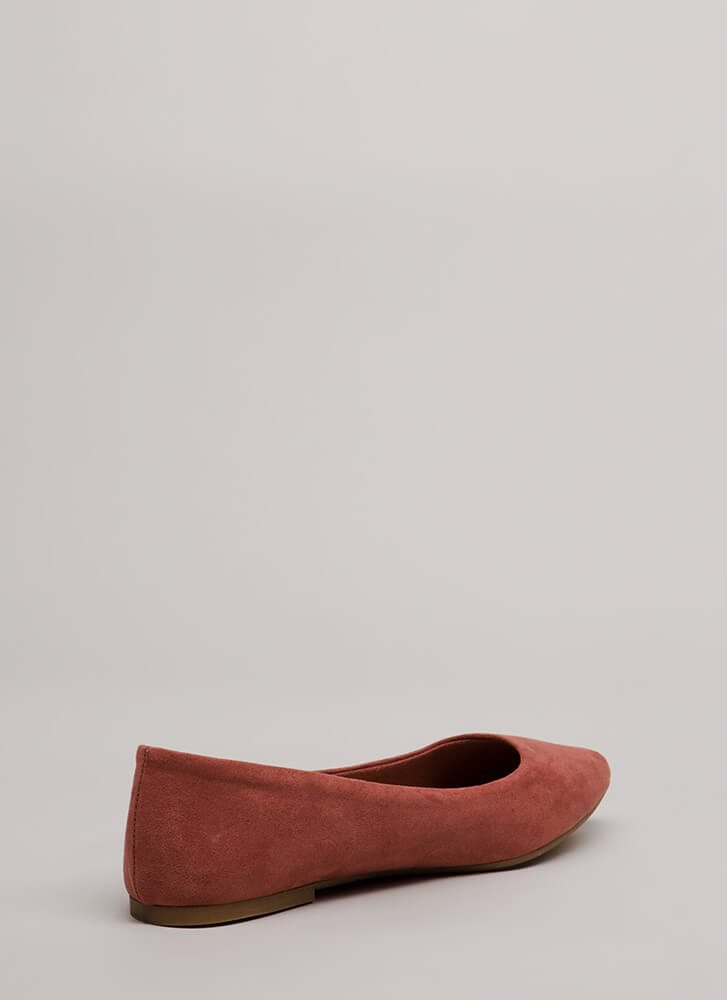 Keeps Me Grounded Faux Suede Flats DESERTROSE