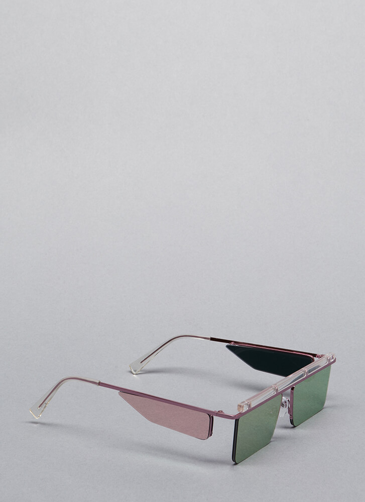 Blinders On Futuristic Sunglasses CLEARPINK