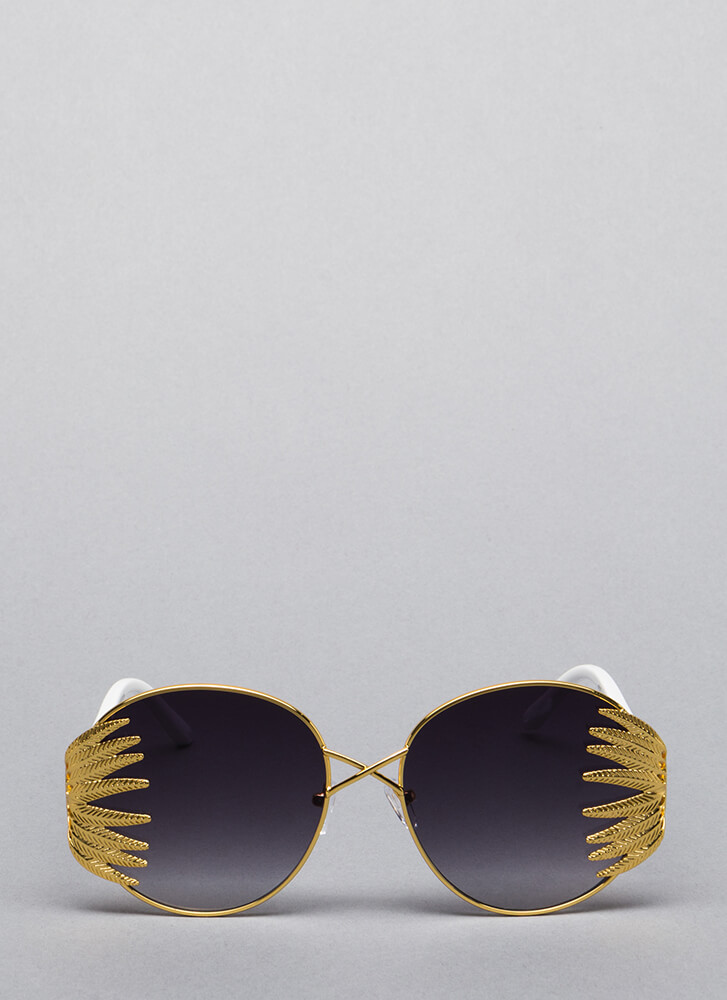 New Leaf Tropical Ombre Sunglasses by Go Jane