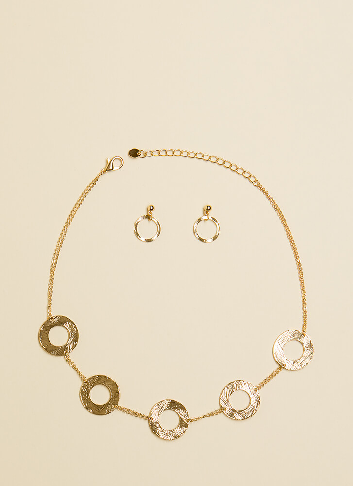 Ring Down The House Necklace Set GOLD (Final Sale)