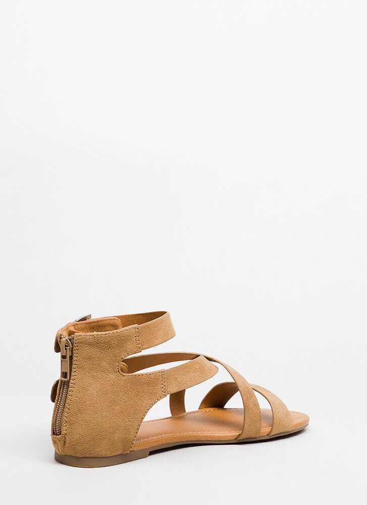 Forever Strappy Double-Buckled Sandals MEDTAN