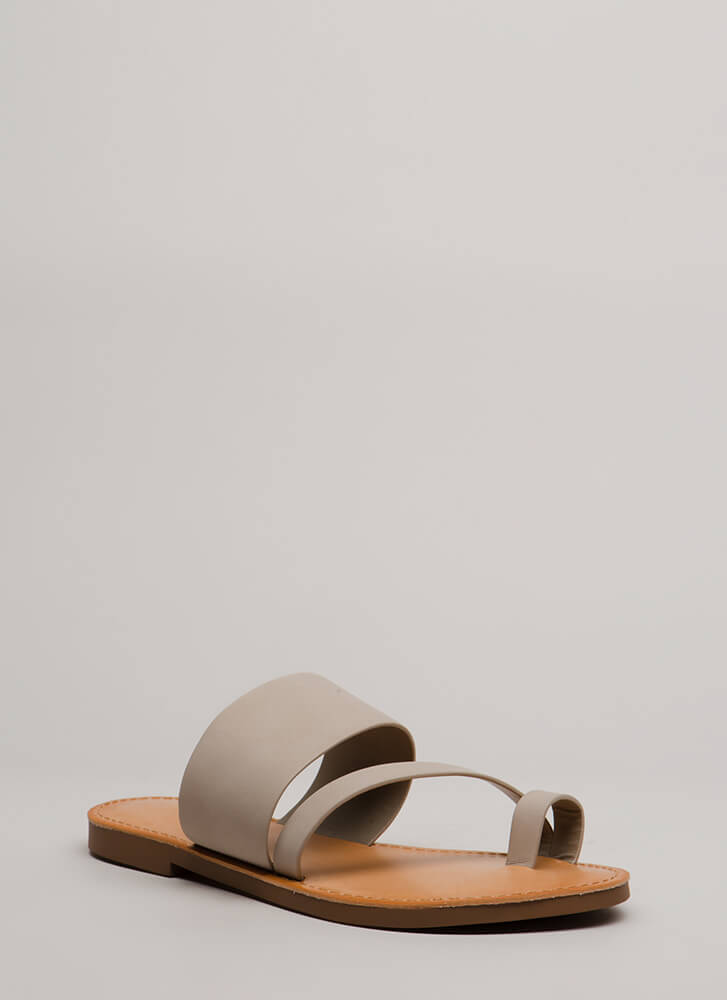Cool Girl Strappy Faux Nubuck Sandals DKCLAY