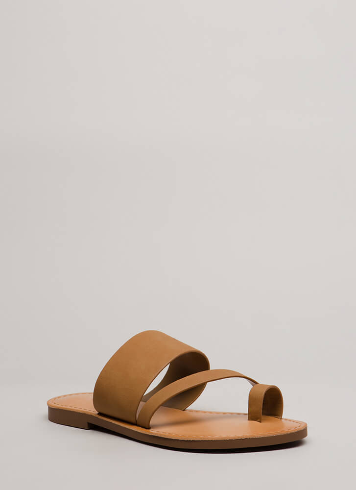 Cool Girl Strappy Faux Nubuck Sandals LTTAN