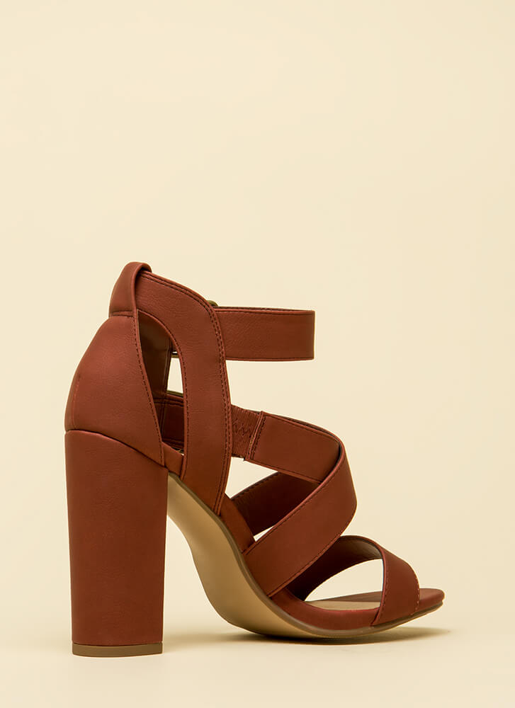 Strap To Attention Chunky Heels DKRUST