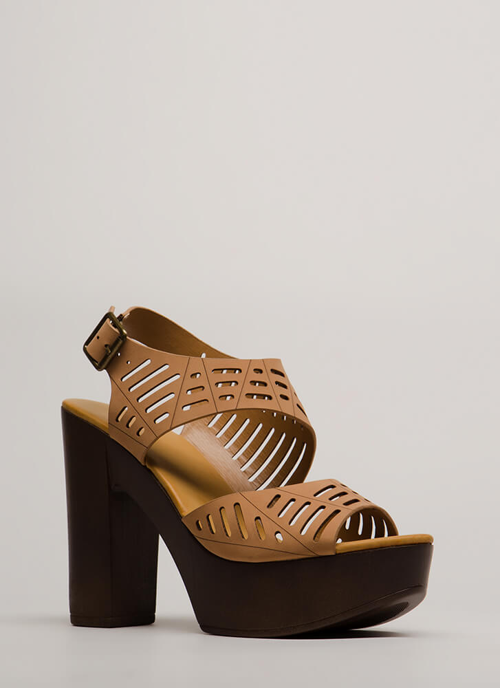 Cute And Chunky Cut-Out Platforms CAMEL