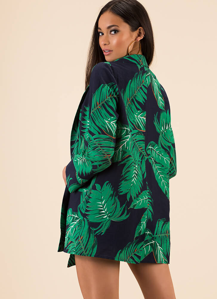 Leaf Me In The Tropics Two-Piece Set NAVY