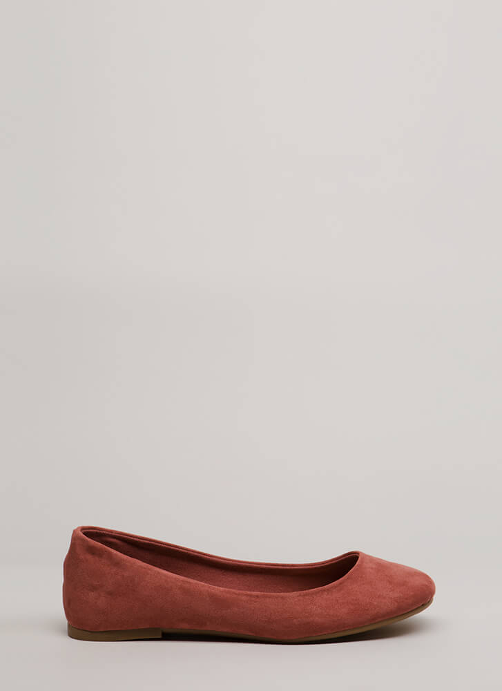 Tap Your Toes Faux Suede Ballet Flats DESERTROSE