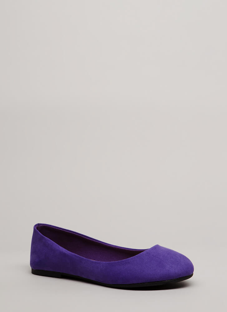 Tap Your Toes Faux Suede Ballet Flats ULTRAVIOLET