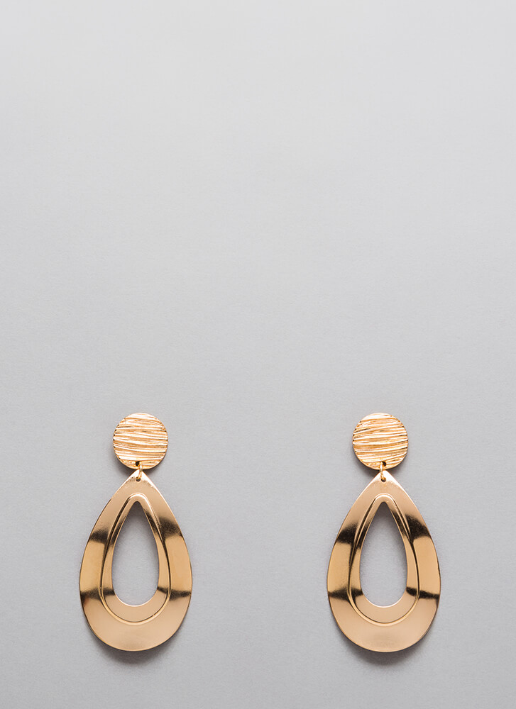 Drop The Act Cut-Out Earrings GOLD (Final Sale)